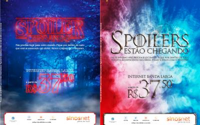 Nova campanha do Sinosnet para os aficionados por séries